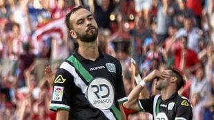 Deivid, en un partido con el Córdoba.
