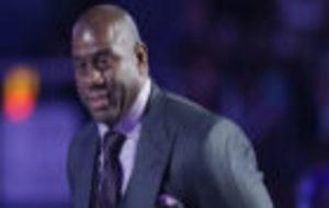 Magic Johnson durante el último All Star de New Orleans