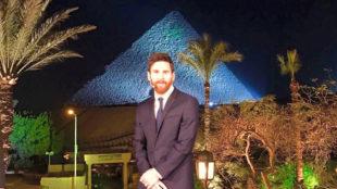 Messi en Egipto.