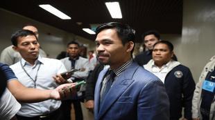 Manny Pacquiao ante los medios