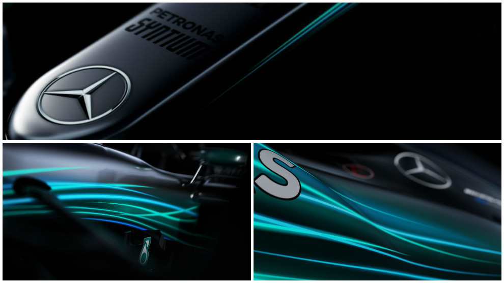 first images of mercedes 2017 f1 car released   thursday will see the w08 fully revealed by