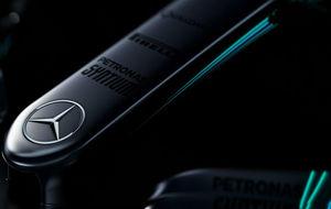Parte delantera del morro del Mercedes W08