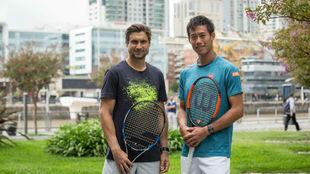 Ferrer y Nishikori posan