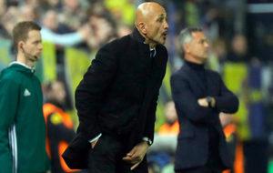 Spalletti, en el partido de ida en Villarreal