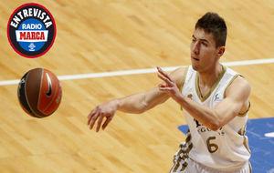 Jorge Sanz, durante un partido con el Real Madrid de Baloncesto
