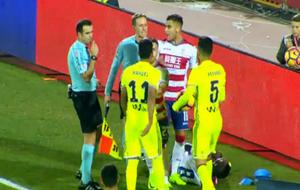 Acción del encuentro en la que ambos jugadores fueron expulsados