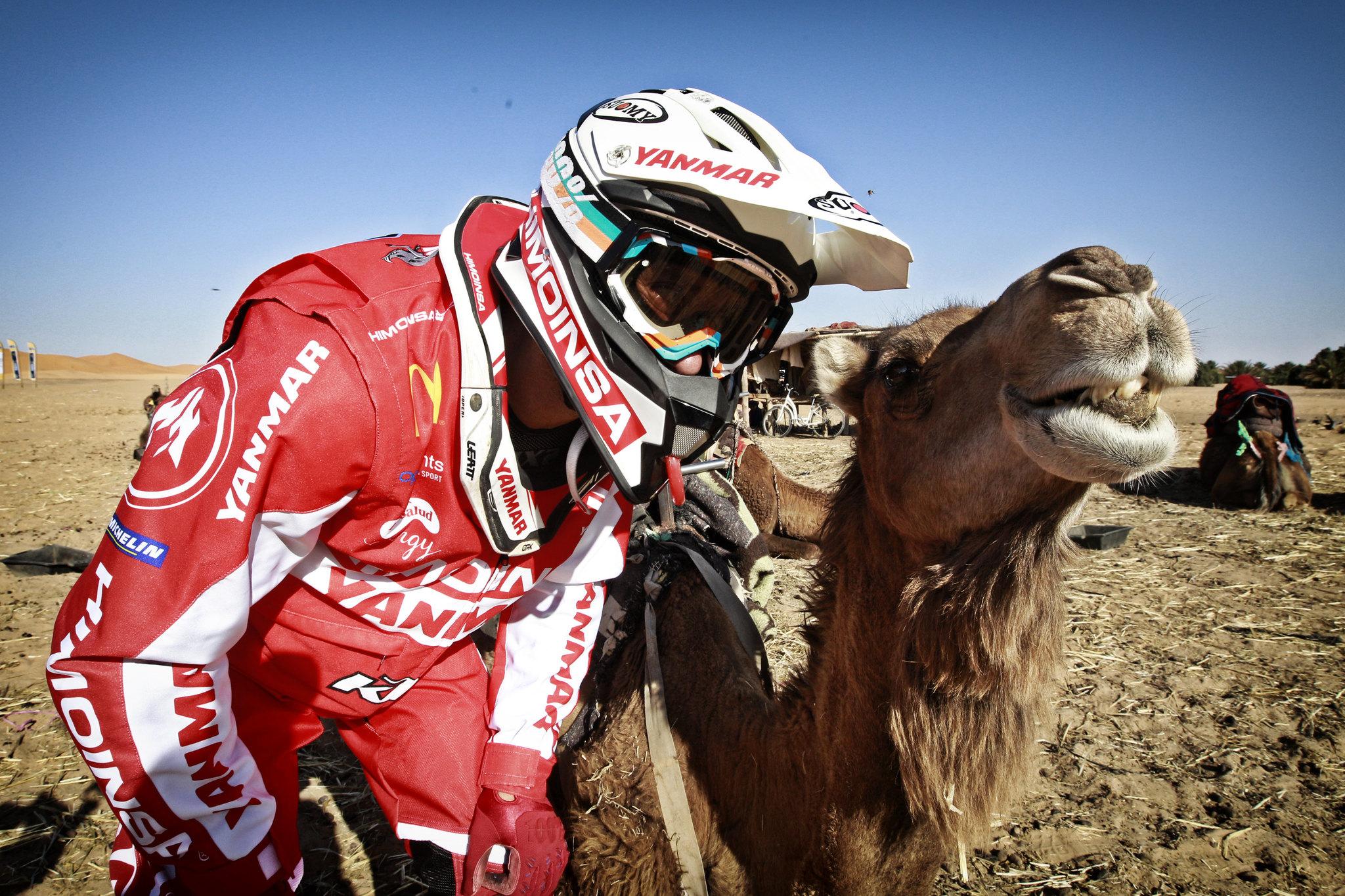 Gerard Farrés posa con un camello.