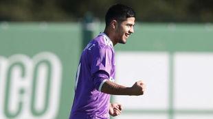 Sergio Díaz celebra un gol