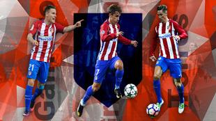 Gameiro, Griezmann y Torres: los goleadores del Atlético.
