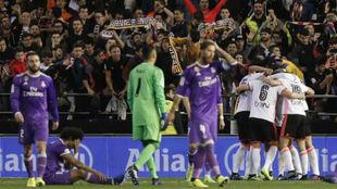 El Madrid frente al Valencia