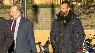 Toni Doblas, al acudir a declarar a Valencia