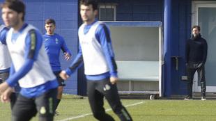 Quique Sánchez Flores no pierde de vista los entrenamientos del...