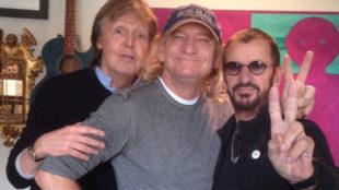 Paul McCartney, Ringo Starr y Joe Walsh