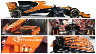 Varios detalles del nuevo McLaren MCL32.