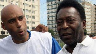 Pelé y su hijo en 2007