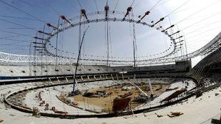 Panorámica actual de las obras del Wanda Metropolitano.