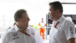 Zak Brown, del equipo McLaren Honda