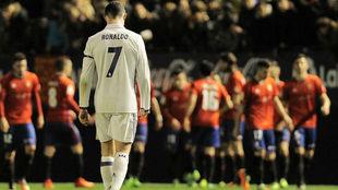 Cristiano, en el partido ante Osasuna.
