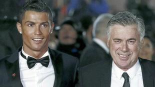 Cristiano Ronaldo y Carlo Ancelotti.
