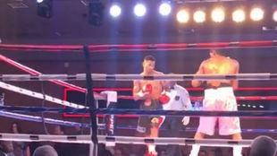 Jonathan Maravilla Alonso, durante un momento de su combate con...