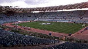 Actual Estadio Olímpico de Roma vacío.