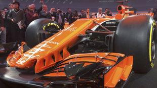 El McLaren MCL32, durante la presentación