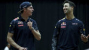Max Verstappen y Daniel Ricciardo, pilotos de Red Bull