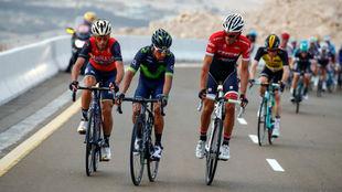 Nairo Quintana junto a Alberto Contador y Vincenzo Nibali.