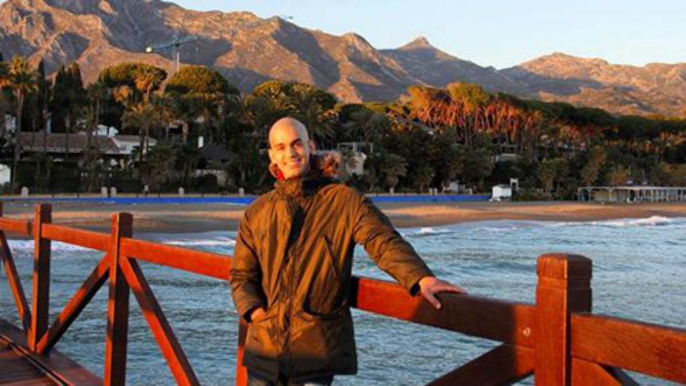 Pablo Ráez, en una foto subida a su Facebook el 25 de enero.