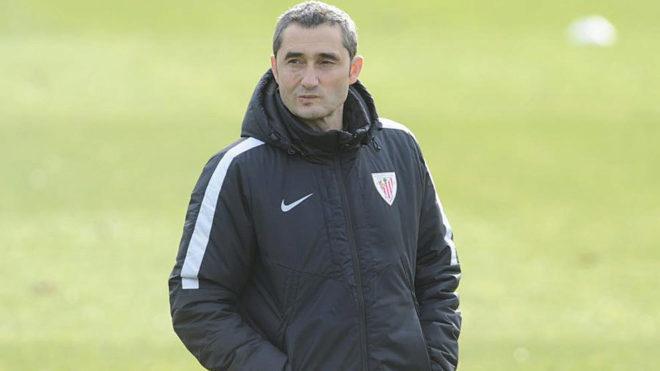 Valverde durante un entrenamiento.