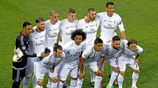 El once del Real Madrid en la final de la Champions en Milán