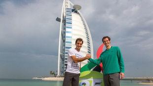 Federer y Murray, en Dubái