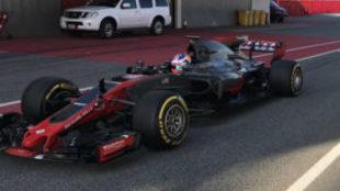 Filtración del monoplaza de Haas durante el 'filming day'...