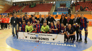 El Barcelona Lassa celebrando el título de campeón de Copa de 2017