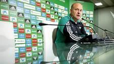 Pepe Mel, durante una rueda de prensa en su etapa como entrenador del...