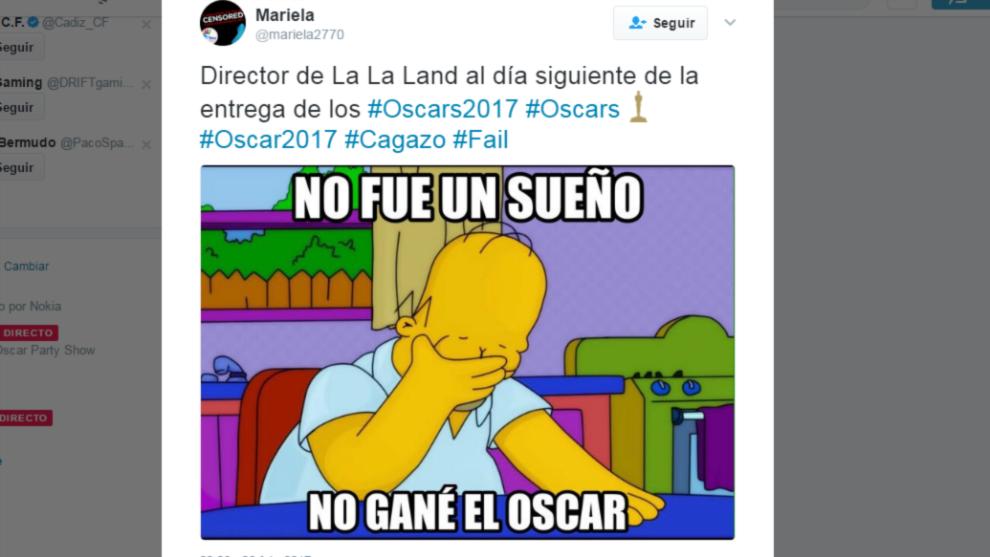 Los mejores memes del error histórico de los Oscar
