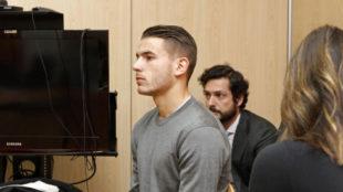 Lucas, durante el juicio.