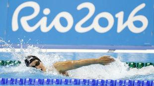 Mireia Belmonte, durante la final del 800 libre de Río 2016.