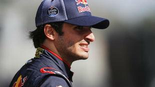 Carlos Sainz, durante los test de pretemporada