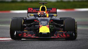 Max Verstappen, durante los test de pretemporada