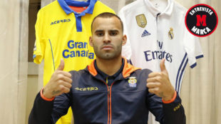 Jes� posa para MARCA en la v�spera del Madrid-Las Palmas