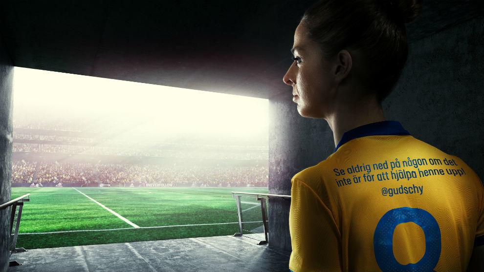 adidas puso frases inspiradoras en la camiseta de la Selección Femenina de Suecia