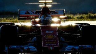 Vettel, en Barcelona.
