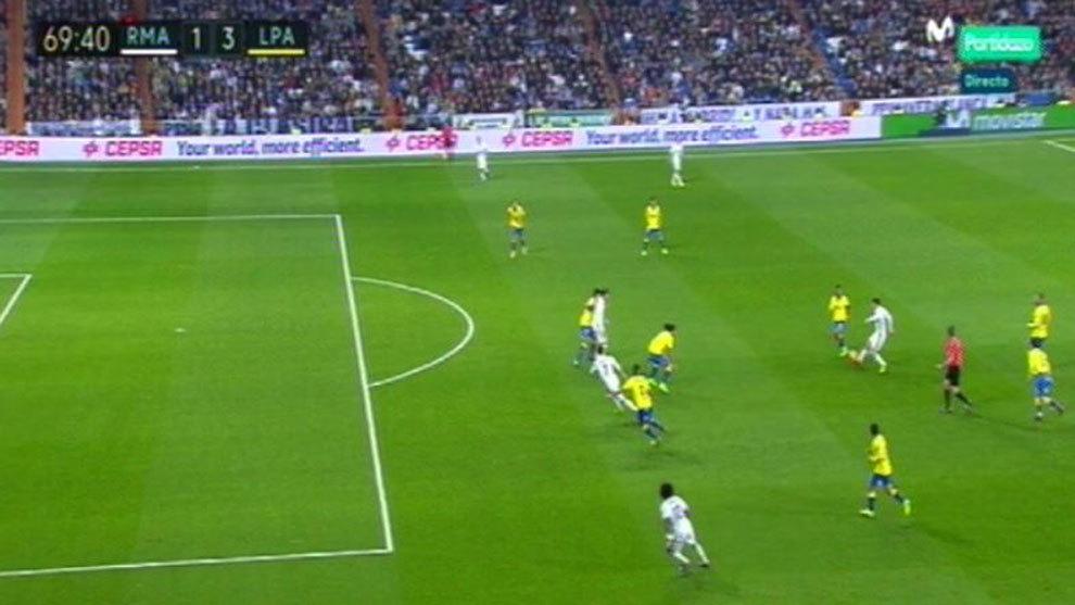 Real madrid no hay fuera de juego de cristiano en el gol for Fuera de juego real madrid