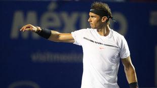 Rafael Nadal no ha tenido problemas en Acapulco.
