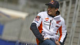 Marc M�rquez, en Jerez.
