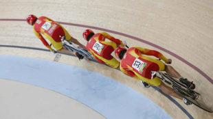 El equipo español de velocidad en los Juegos Paralímpicos de Río.