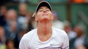 Maria Sharapova durante el Roland Garros de 2015.