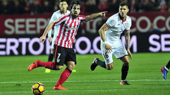 Beñat en un momento del partido frente al Sevilla.
