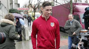 Fernando Torres, tras abandonar el hospital.